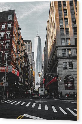 Wood Print featuring the photograph Lower Manhattan One Wtc by Nicklas Gustafsson