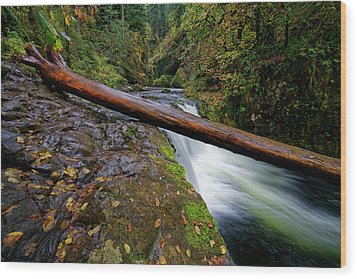 Wood Print featuring the photograph Lower Punch Bowl Falls by Jonathan Davison