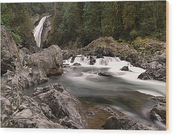Wood Print featuring the photograph Lower Twin Falls by Jeff Swan