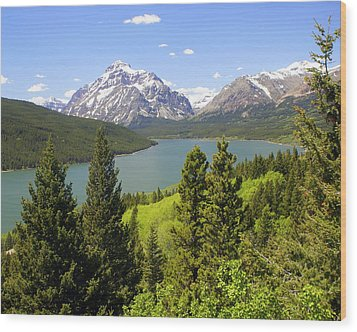 Lower Two Medicine Lake Wood Print by Marty Koch