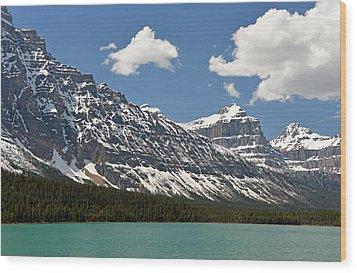 Lower Waterfowl Lake Wood Print