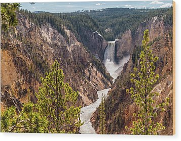 Lower Yellowstone Canyon Falls 5 - Yellowstone National Park Wyoming Wood Print