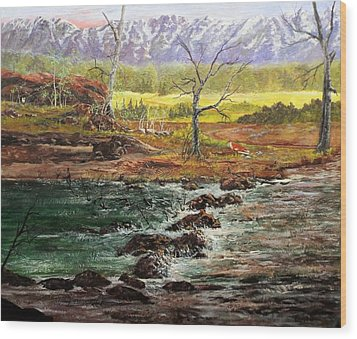 Lowwater Crossing  Wood Print