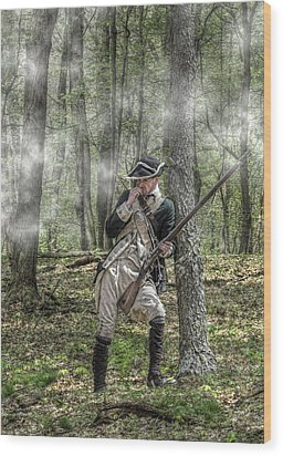 Loyalist Skirmisher  American Revolution Wood Print by Randy Steele