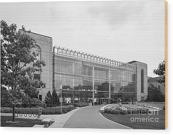 Loyola University Klarchek Commons Wood Print by University Icons