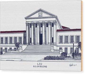 Lsu Old Law Building Wood Print by Frederic Kohli
