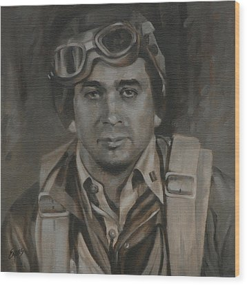 Lt Commandor Joe Gibson Wood Print