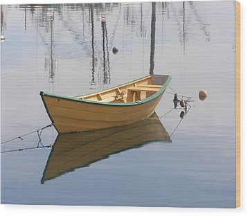 Lttle Row Boat Wood Print by Frederic Durville