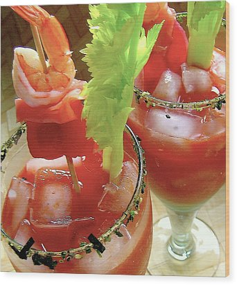 Luau Bloody Mary Wood Print by James Temple