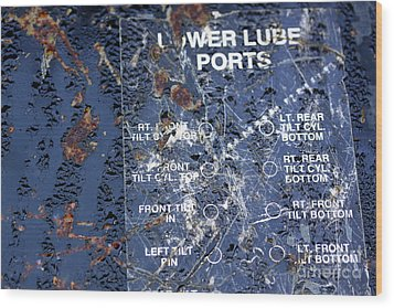 Wood Print featuring the photograph Lube Port by Stephen Mitchell