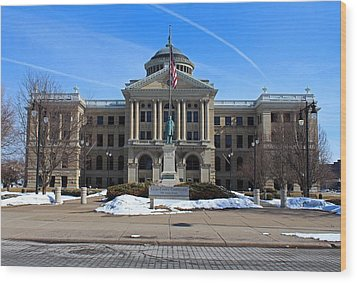 Wood Print featuring the photograph Lucas County Courthouse I by Michiale Schneider