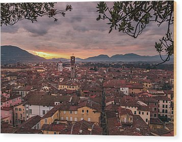 Lucca In Tuscany Wood Print