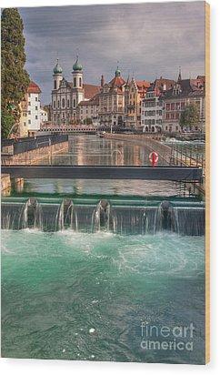 Lucerne Wood Print by Caroline Pirskanen