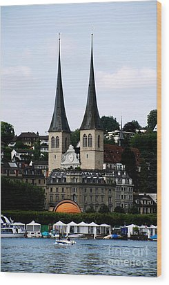 Lucerne Cathedral Wood Print