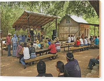 Luckenbach Music Wood Print by Robert Anschutz