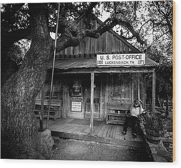 Wood Print featuring the photograph Luckenbach Texas by David Morefield