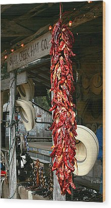 Luckenbach Texas Wood Print by Terry Burgess