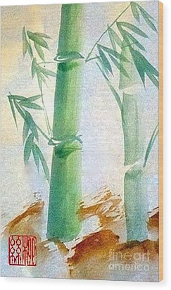 Lucky Bamboo Wood Print