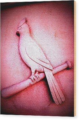 Lucky Bird Wood Print by John McGarity