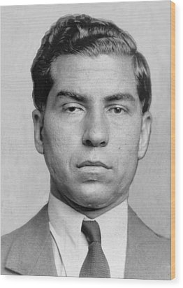 Lucky Luciano 1896-1962 Was Imprisoned Wood Print by Everett