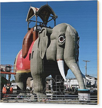 Lucy The Elephant Wood Print by Ira Shander