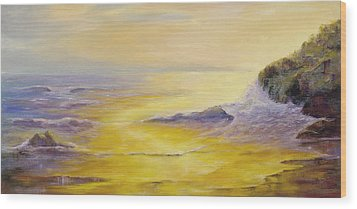 Wood Print featuring the painting Lufenholtz At Sunset by Rebecca Kimbel
