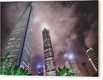 Lujiazui Wood Print by Andy Brandl