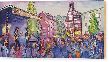 Wood Print featuring the painting Lukas Nelson And Promise Of The Real by David Sockrider