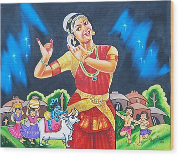 Lullaby Of Lord Krishna Wood Print by Ragunath Venkatraman