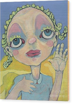 Wood Print featuring the painting Lulu by Michelle Spiziri