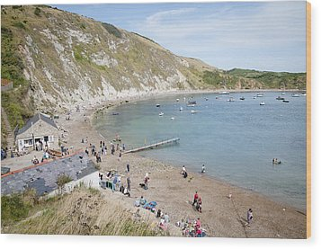 Lulworth Cove Dorset Uk Wood Print by Andy Smy