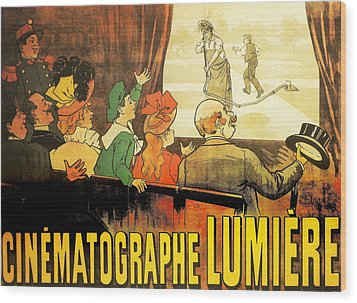Lumiere Cinematographe Wood Print by Georgia Fowler