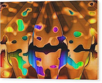 Wood Print featuring the digital art Luminence by Ron Bissett