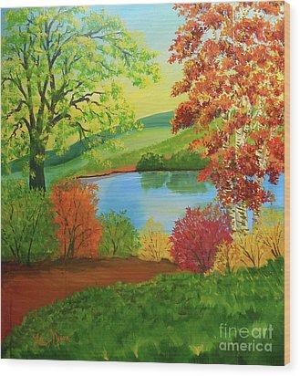 Luminous Colors Of Fall Wood Print