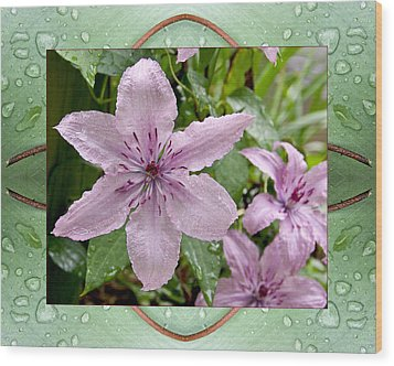 Wood Print featuring the photograph Luminous Mauve by Bell And Todd