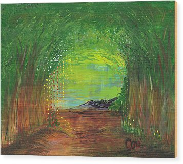 Luminous Path Wood Print