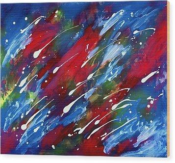 Wood Print featuring the painting Luminous Rain by Patrick Morgan