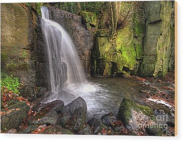 Wood Print featuring the photograph Lumsdale Falls 3.0 by Yhun Suarez