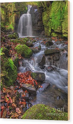 Wood Print featuring the photograph Lumsdale Falls 4.0 by Yhun Suarez