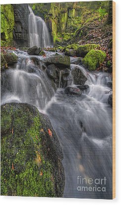 Wood Print featuring the photograph Lumsdale Falls 5.0 by Yhun Suarez
