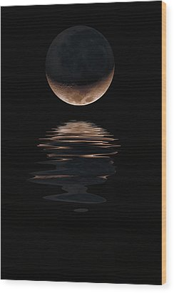Lunar Dance Wood Print by Jerry McElroy