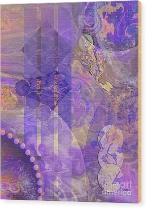 Lunar Impressions 2 Wood Print by John Beck