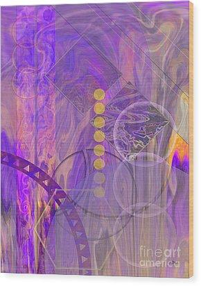 Lunar Impressions 3 Wood Print by John Beck