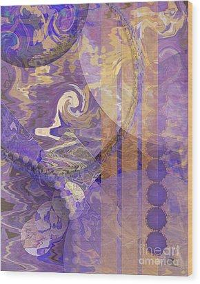 Lunar Impressions Wood Print by John Beck