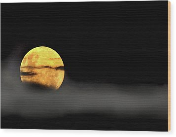 Lunar Mist Wood Print by Marion Cullen