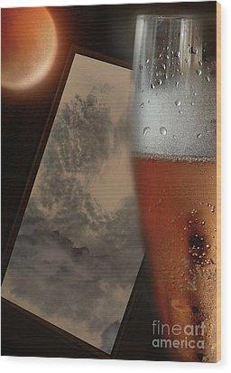 Lunar Moon Fizz Frame 3 Wood Print by Vicki Ferrari