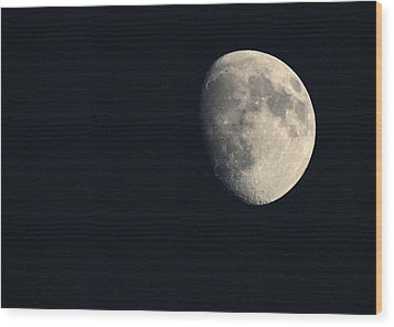Wood Print featuring the photograph Lunar Surface by Angela Rath