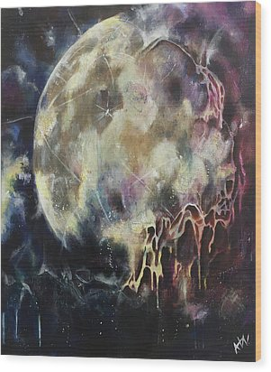 Lunar Transformation Wood Print by Amy Williams