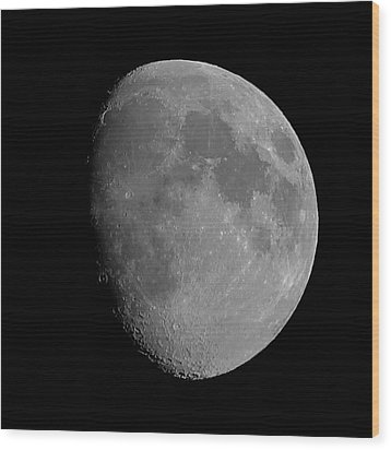 Lunarcy Over Cape Cod Canal Wood Print