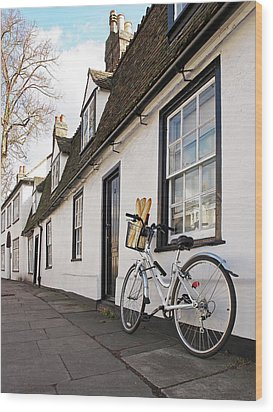 Wood Print featuring the photograph Lunch French Style By Bicycle In Cambridge by Gill Billington
